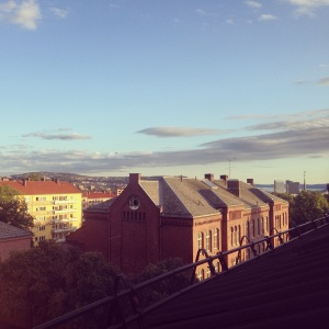 The rooftop view from our loft